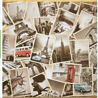 Landscape Retro Style Postcards World Cities Old Travel Gift Greeting Cards