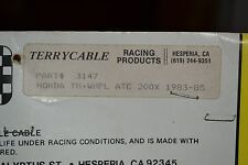 "NOS Terrycable Honda ""Whirlpull"" Throttle Cable #3147 83'-85' ATC200S"