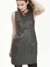 Banana Republic Forest Pine Green Heritage Collection Leather Cargo Dress Size 2