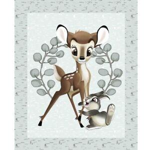 "35"" Fabric Panel - Springs Disney Nursery Bambi & Thumper Scene"
