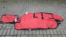 Unbranded red quilted stable rug with neck cover 4ft 6in