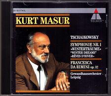 Kurt MASUR: TCHAIKOVSKY Symphony No.1 Winter Dreams Francesca da Rimini CD 1991