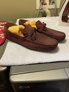 NIB TOD'S BAROLO MEN'S DRIVING LOAFERS Burgundy SUEDE NEW SIZE UK 11.5/ US 12.5