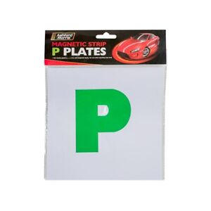 2 Magnetic Green P Plates For New Drivers Car Bike Van Fully Magnetic Strong Fix