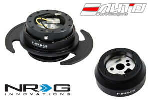 NRG Steering Wheel Short Hub SRK-170H + Black Gen3 Quick Release w/ Black Ring a