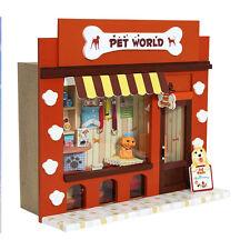 Kits Dollhouse Miniature DIY Wood Dolls House Gift 3D Toy Pet Store