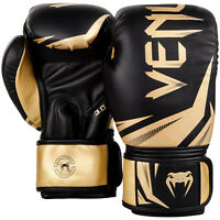 Venum Boxing Gloves Challenger 3.0 Black Gold Muay Thai MMA Sparring Kickboxing