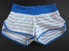 Lululemon Speed Shorts Quiet Stripe Pipe Dream Blue/White 2 way stretch size 2