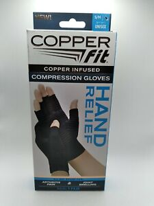 Copper Fit Copper Infused Compression Gloves 1 Pair of S/M Gloves Unisex New