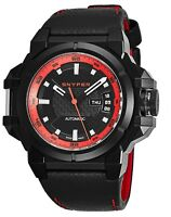Snyper Men's Two Black/Red Dial Black Leather Strap Automatic Watch 20.255.00