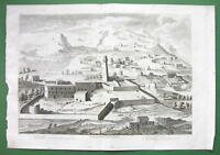 HOLY LAND Perspective View of Nazareth - SCARCE Antique Print Copperplate