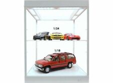 Display Case & Lights, Suitable for 1/18 + 1/24 With Turntable