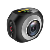 "360° Panoramic WiFi Action Sports Camera 2.7K 1"" LCD Screen with Remote Control"