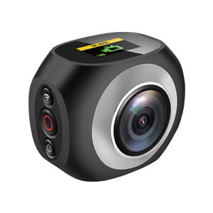 """360° Panoramic WiFi Action Sports Camera 2.7K 1"""" LCD Screen with Remote Control"""