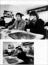 THE WHO POSTER PAGE . 1966 KEITH MOON & JOHN ENTWISTLE AT BREAKFAST . R44