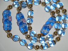 collana vintage in vetro MURANO originale azzurro acquamarina