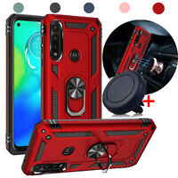 For Motorola Moto G Power Case Shockproof Armor Magnetic Stand Cover+Car Holder