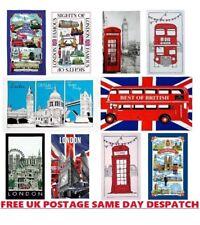 Paños de cocina diez mezclar y combinar escenas de Londres Impresión de Algodón británico Recuerdo Regalo