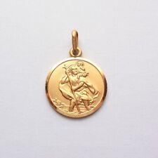 St. Christopher Pendant Patron Saint Christian Gold 9ct