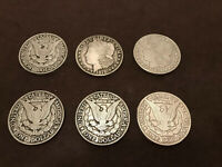 Lot Of 6 Vintage Wilton Armetale Pewter Coin Coasters / Trivets RARE HTF