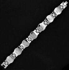 Men's Stainless Steel Silver Olympics 2008 Bracelet