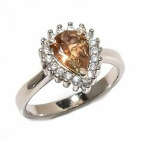 Andalusite, White Topaz Gemstone 925 Sterling Silver Ring Size 5 SR-562