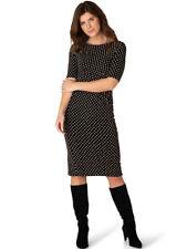 Sexy Jersey Kleid schwarz Punkte beige von Yest, Gr. 42 44 neu 39500