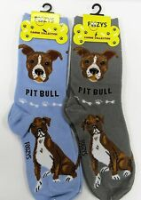 American Pit Bull Terrier Dog Socks 2 Pairs Women's Foozys Canine Puppy Breed