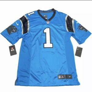 New W tags NFL Carolina Panthers Cam Newton Mens Teal Nike On Field Jersey-Large