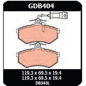 Audi 100 2.0 Avant 1988-1990 TRW Front Disc Brake Pads GDB404 DB343