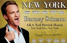 Neil Patrick Harris BARNEY STINSON How I Met Your Mother NYC Drivers License