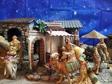 "Fontanini The Three Kings on Animals Nativity Set Wisemen 5"" Heirloom Collection"