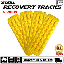 X-BULL Recovery Tracks 10T Sand Mud Grass 4WD Accessory 2Pairs Yellow Gen2.0