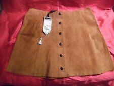 Large White Crow Brown Suede Mini-Skirt (2 to sell)