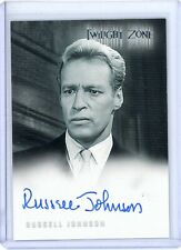 Twilight Zone 2004 Rittenhouse ~ Russell Johnson ~ Autograph ~ Auto Card # A-80