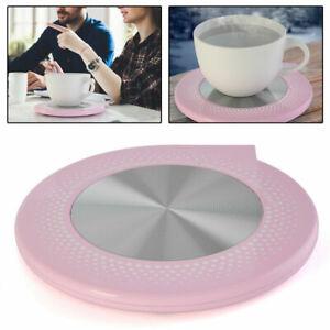 Cup Warmer Mat Mug Coffee Tea Heating Plate USB Safe Heater Insulation Pad Pink