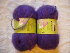 Lot of 2 Skeins Yarn Bee Surprise in Juiced Grape purple color