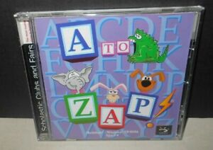 A to ZAP! 1998 Pre-Reading & Letter Recognition Skills Pre-Owned Sunburst CD-ROM