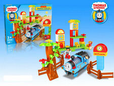 LARGE THOMAS THE TANK & FRIENDS TRAIN SET BUILDING BLOCKS TABLE GAME KID BOY TOY