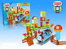 LARGE THOMAS THE TANK & FRIENDS TRAIN SET BUILDING BLOCKS TABLE GAME KID BOY TOY