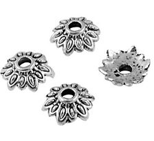 8mm  Antique Silver Flower Bead Caps, Tibetan Style, FORTY Nickel Free
