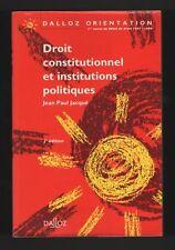 █ DROIT CONSTITUTIONNEL et INSTITUTIONS POLITIQUES █