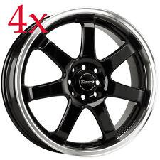 Drag Wheels DR-35 17x7.5 5x100 5x114 Black Rim For Golf Vr6 GTI Jetta GLI Beetle