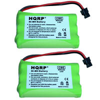 2-Pack HQRP Cordless Phone Battery for Uniden PowerMax 30878864022 GE TL26402