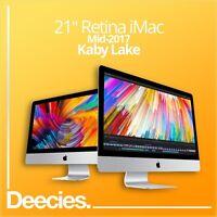 "NEW 2017 Apple Retina iMac 21"" 4k 3.4Ghz KABY LAKE i5 32GB 1TB SSD Windows 10"