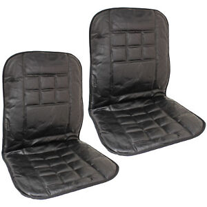Pair of 2 Orthopaedic Leather Front Car Seat Covers Protect Back Support Cushion
