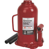 Strongway 20-Ton Hydraulic Bottle Jack with Welded Base