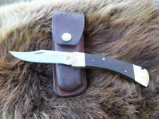 VTG 1980 PERSONALIZED BUCK 110 KNIFE 3 DOT with SHEATH Hunting Skinning Fishing