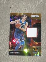 2019-20 Panini Prizm Sensational Swatches Jersey Orange Ice Dario Saric #SS-DSI