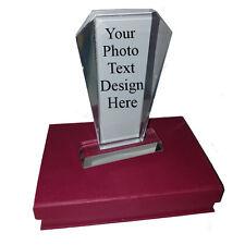 Diseño De Texto Personalizado Foto Personalizado Cristal trophie con caja de regalo Marcos De Vidrio